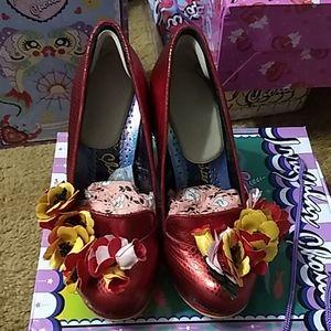Irregular Choice Ember Starwand red 40 NİB heels